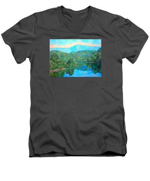 Reflections On The James River Men's V-Neck T-Shirt