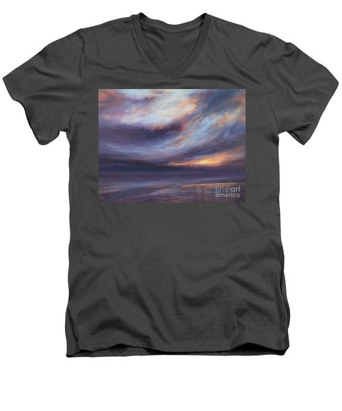 Reflections Men's V-Neck T-Shirt by Valerie Travers
