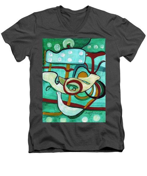 Reflective #3 Men's V-Neck T-Shirt