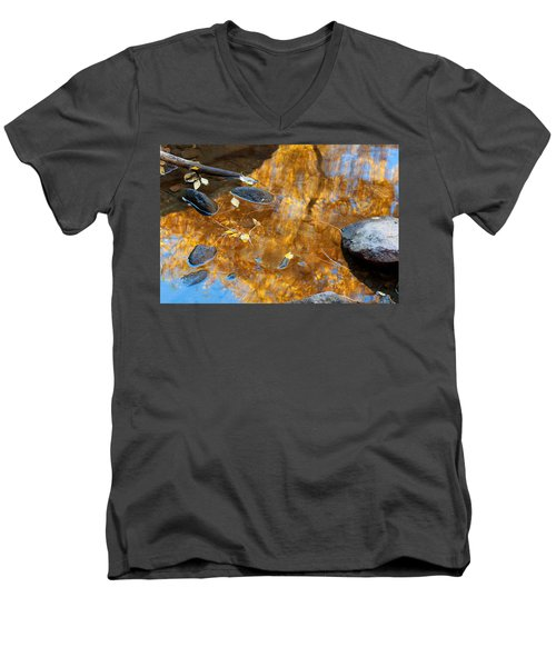 Men's V-Neck T-Shirt featuring the photograph The Melting Pot by Jim Garrison