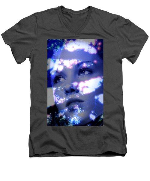 Reflective Men's V-Neck T-Shirt by Richard Thomas