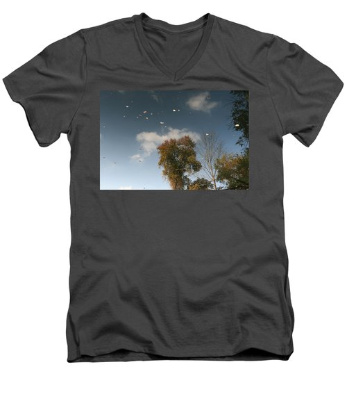 Men's V-Neck T-Shirt featuring the photograph Reflective Thoughts  by Neal Eslinger