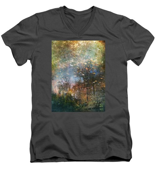 Men's V-Neck T-Shirt featuring the photograph Reflective Waters by John Rivera