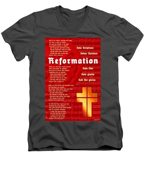 Reformation Men's V-Neck T-Shirt by Chuck Mountain