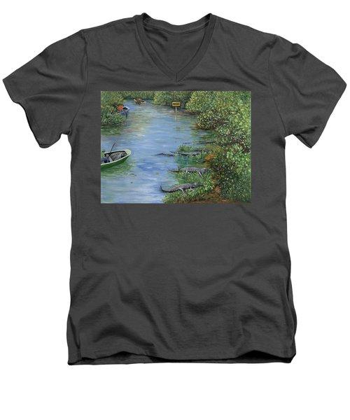 Refuge? Men's V-Neck T-Shirt
