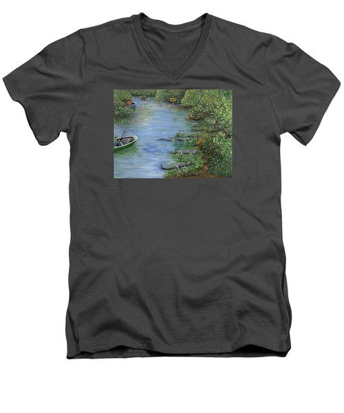 Refuge? Men's V-Neck T-Shirt