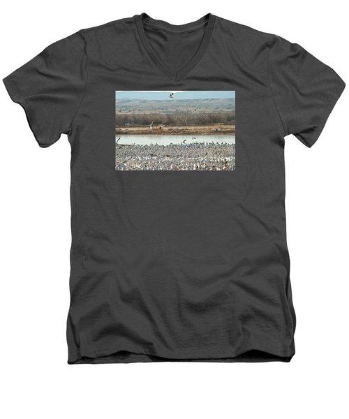 Refuge View 2 Men's V-Neck T-Shirt by James Gay
