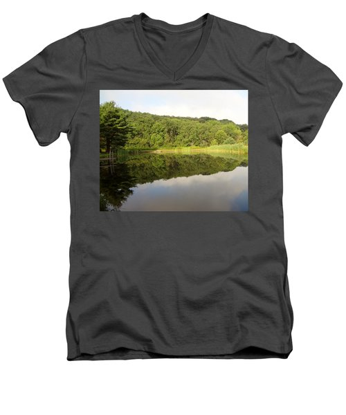 Men's V-Neck T-Shirt featuring the photograph Relaxation by Michael Porchik