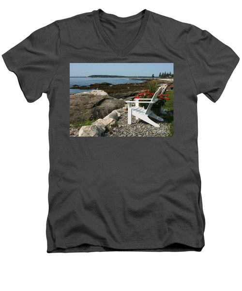 Men's V-Neck T-Shirt featuring the photograph Relaxing Afternoon by Mariarosa Rockefeller