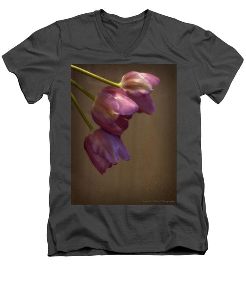 Men's V-Neck T-Shirt featuring the photograph Remaining Glory by Lucinda Walter