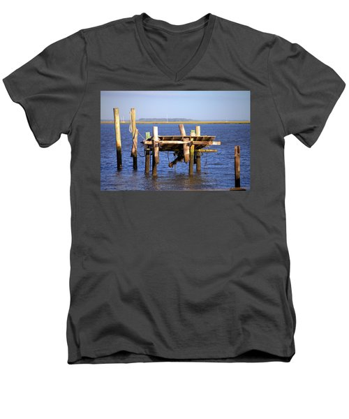 Men's V-Neck T-Shirt featuring the photograph Remnants by Gordon Elwell