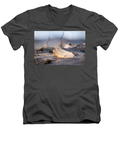 Remnants Of Icarus Men's V-Neck T-Shirt by Bill Pevlor