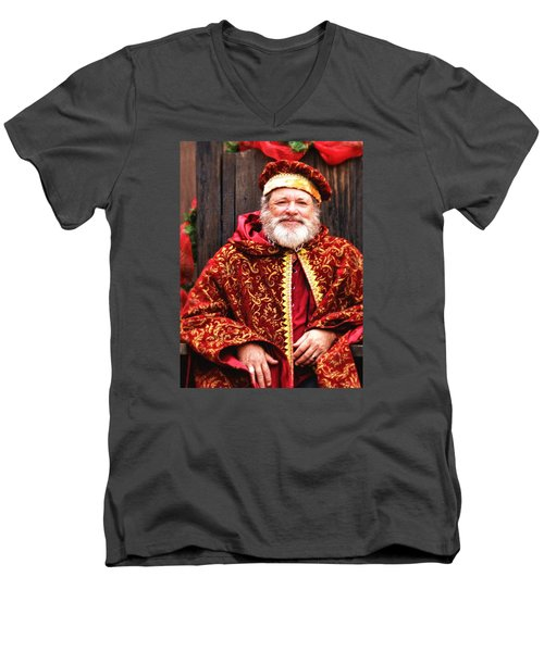 Renaissance St Nicholas Men's V-Neck T-Shirt by Nadalyn Larsen