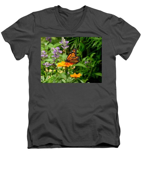 Renewed Men's V-Neck T-Shirt by Rodney Lee Williams