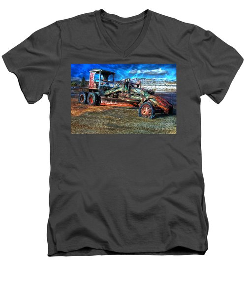 Retired Caterpillar Men's V-Neck T-Shirt