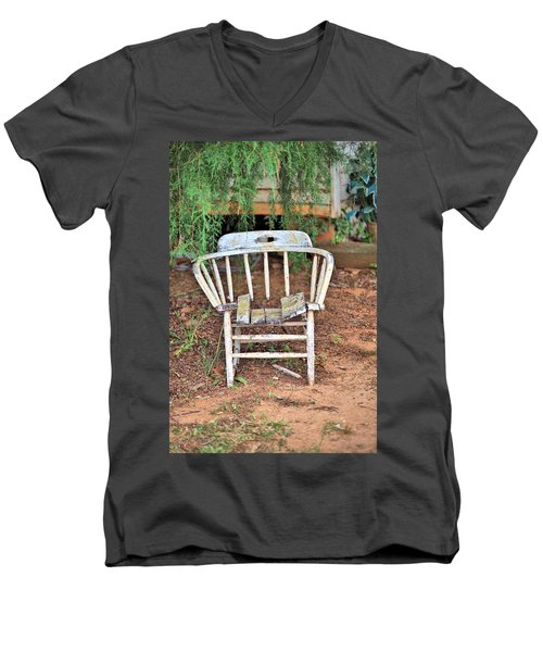 Men's V-Neck T-Shirt featuring the photograph Retired by Gordon Elwell