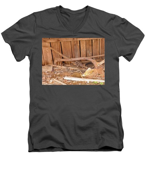 Men's V-Neck T-Shirt featuring the photograph Retired Tools by Nick Kirby