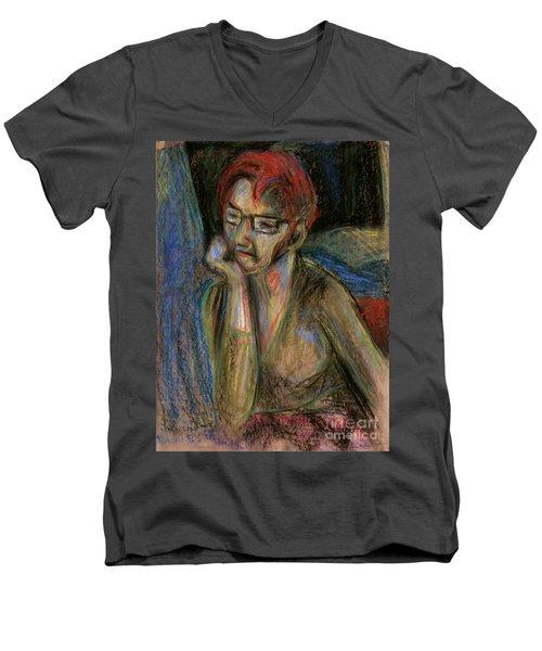 Retrospection - Woman Men's V-Neck T-Shirt