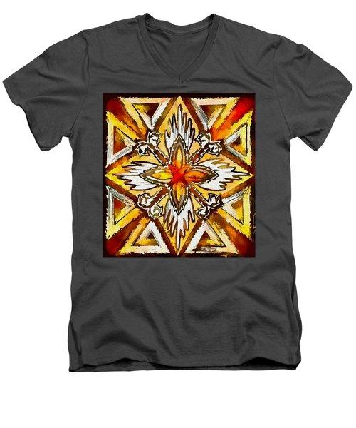 Return Men's V-Neck T-Shirt by Kathy Bassett
