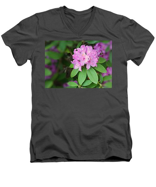 Men's V-Neck T-Shirt featuring the photograph Rhododendron by Kristin Elmquist