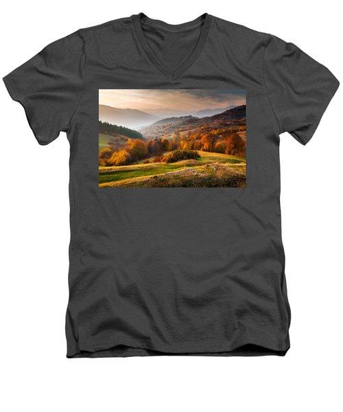 Rhodopean Landscape Men's V-Neck T-Shirt