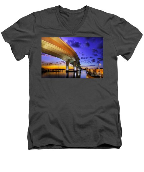 Ribbon In The Sky Men's V-Neck T-Shirt by Marvin Spates