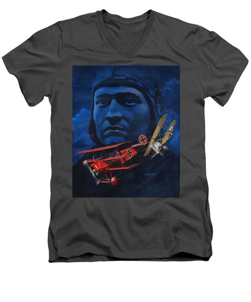 Richthofen And Brown Men's V-Neck T-Shirt
