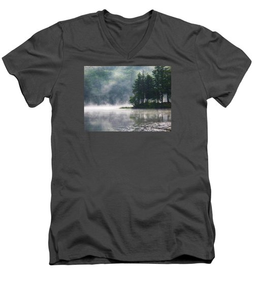 Ridge Road Morning Mist Men's V-Neck T-Shirt by Joy Nichols