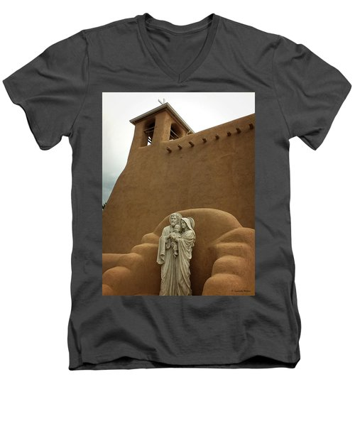 Righteous And Mercy Men's V-Neck T-Shirt by Lucinda Walter