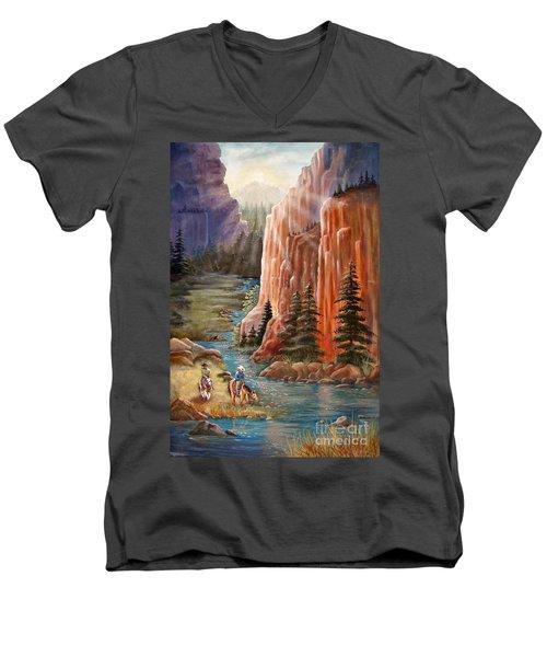 Rim Canyon Ride Men's V-Neck T-Shirt