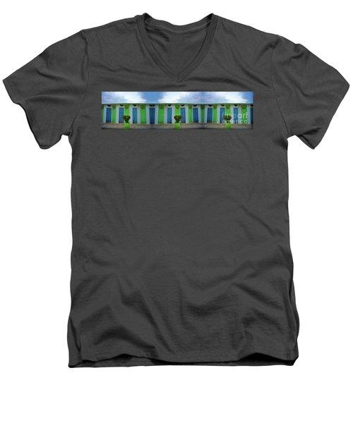 Rimini Beach Panorama Men's V-Neck T-Shirt