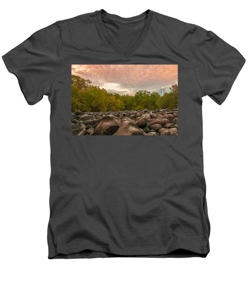 Men's V-Neck T-Shirt featuring the photograph Ringing Rock by Kristopher Schoenleber