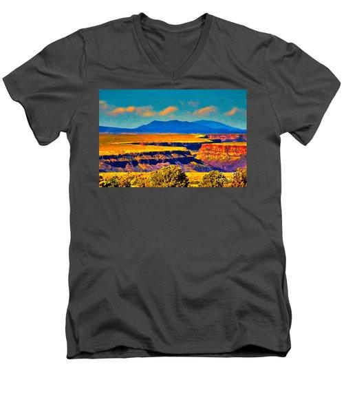 Rio Grande Gorge Lv Men's V-Neck T-Shirt