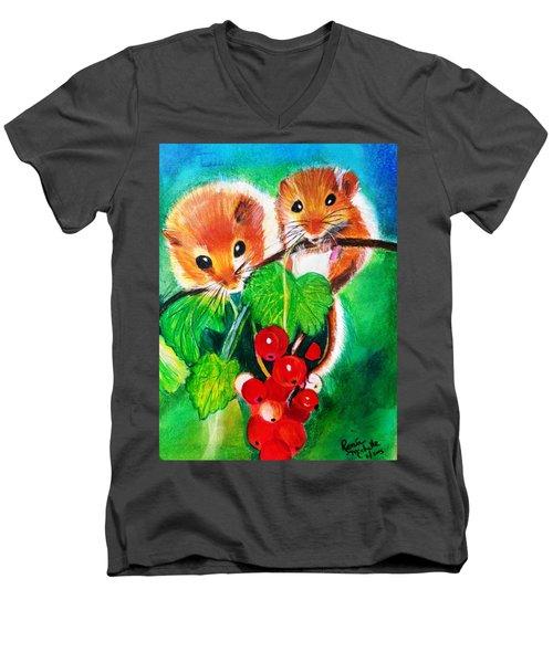 Ripe-n-ready Cherry Tomatoes Men's V-Neck T-Shirt