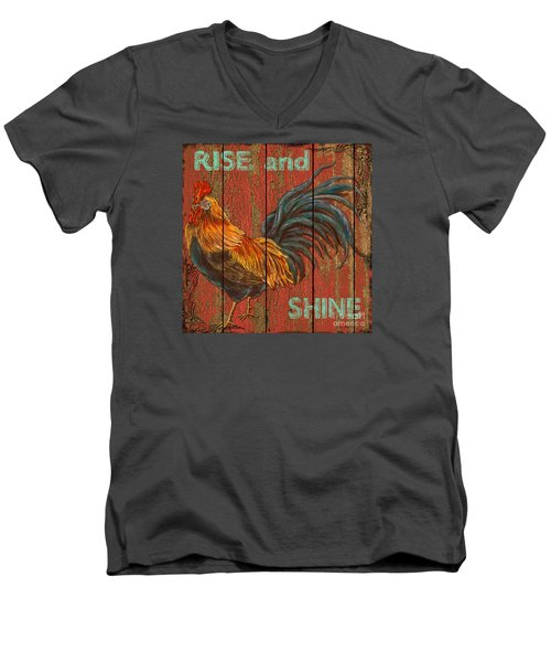 Rise And Shine Men's V-Neck T-Shirt by Jean PLout