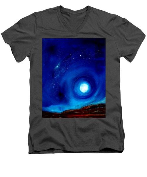 Rising Desert Moon Men's V-Neck T-Shirt