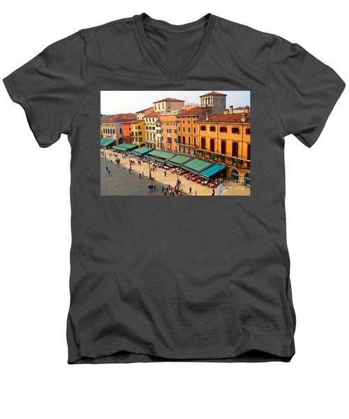 Ristorante Olivo Sas Piazza Bra Men's V-Neck T-Shirt