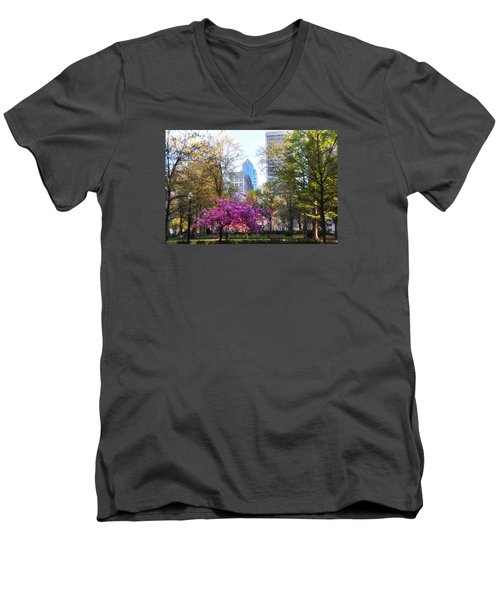 Rittenhouse Square In Springtime Men's V-Neck T-Shirt