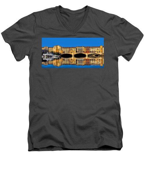 Men's V-Neck T-Shirt featuring the photograph Ritzy by Tammy Espino