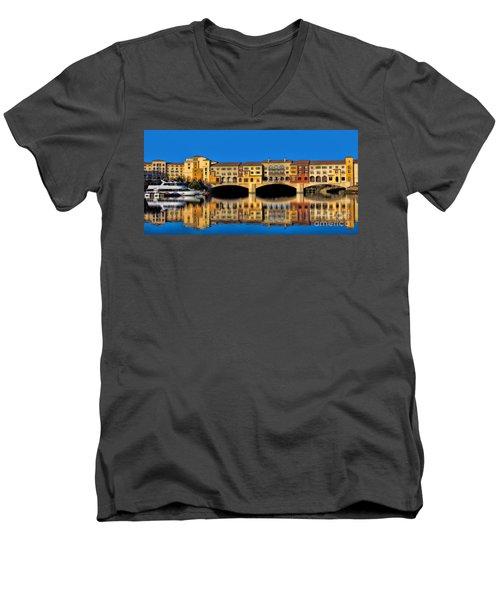 Ritzy Men's V-Neck T-Shirt by Tammy Espino