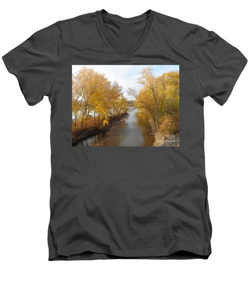 River And Gold Men's V-Neck T-Shirt by Christina Verdgeline