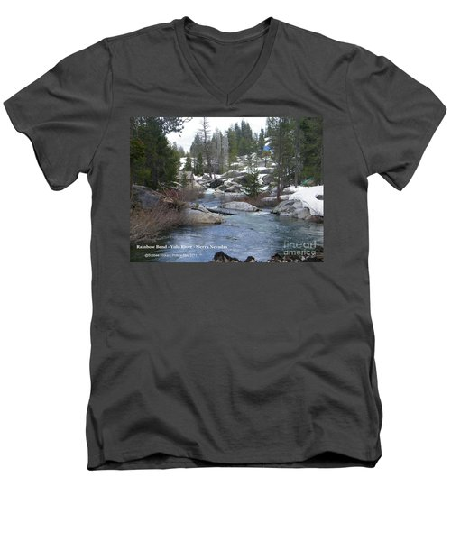 Men's V-Neck T-Shirt featuring the photograph River Bend  by Bobbee Rickard