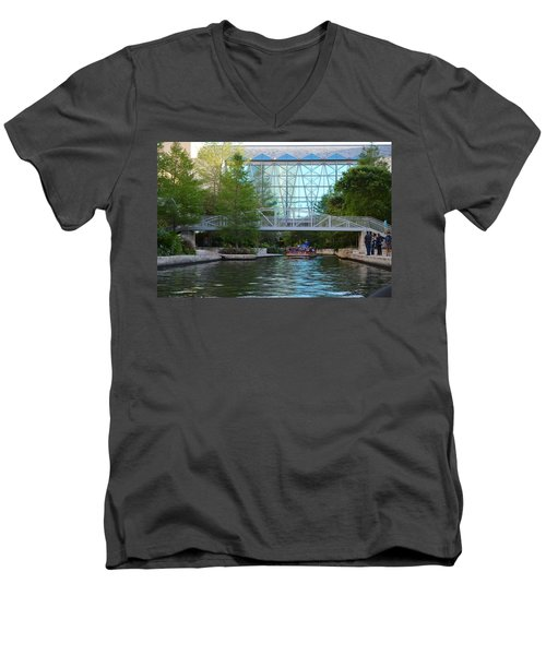 Men's V-Neck T-Shirt featuring the photograph River Boating  by Shawn Marlow