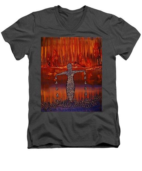 River Dance Men's V-Neck T-Shirt