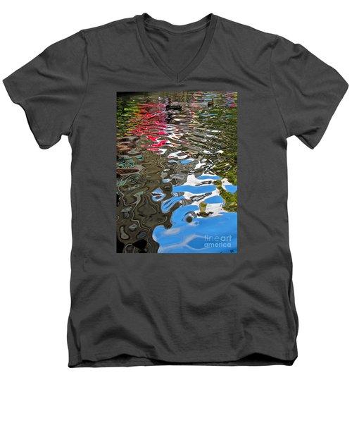 River Ducks Men's V-Neck T-Shirt by Pamela Clements