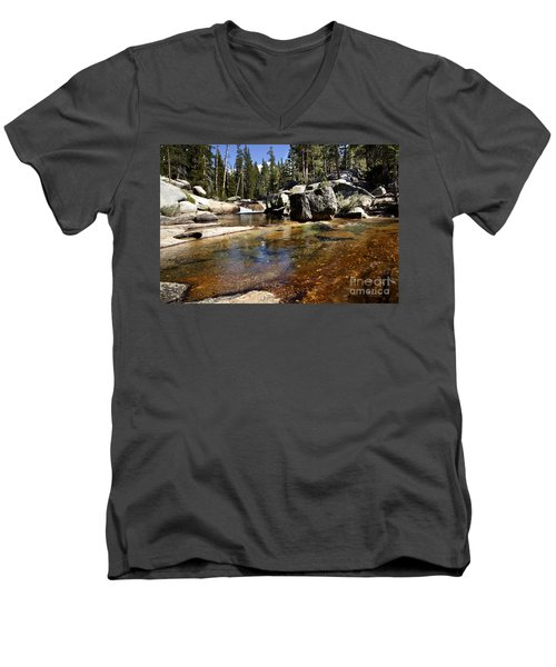 River Flows Men's V-Neck T-Shirt by David Millenheft