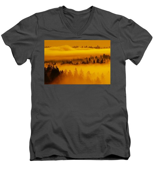 River Fog Rising Men's V-Neck T-Shirt