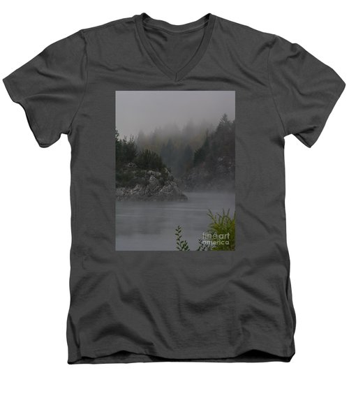 River Island Men's V-Neck T-Shirt by Greg Patzer