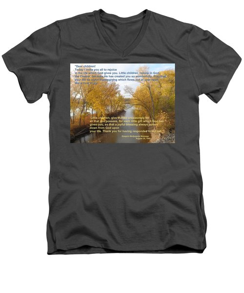 Men's V-Neck T-Shirt featuring the photograph River Of Joy by Christina Verdgeline