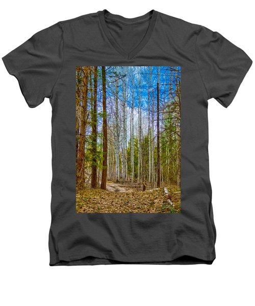 River Run Trail At Arrowleaf Men's V-Neck T-Shirt